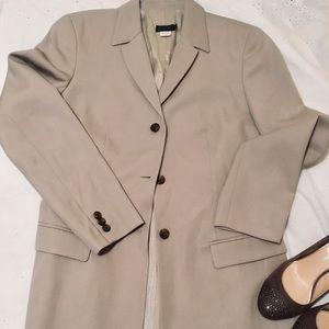 JCrew Khaki wool 3-button blazer size 6